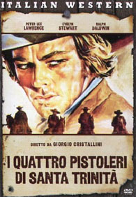 Four Gunmen of the Holy Trinity | I quattro pistoleri di Santa Trinità (1971) Italian DVD cover