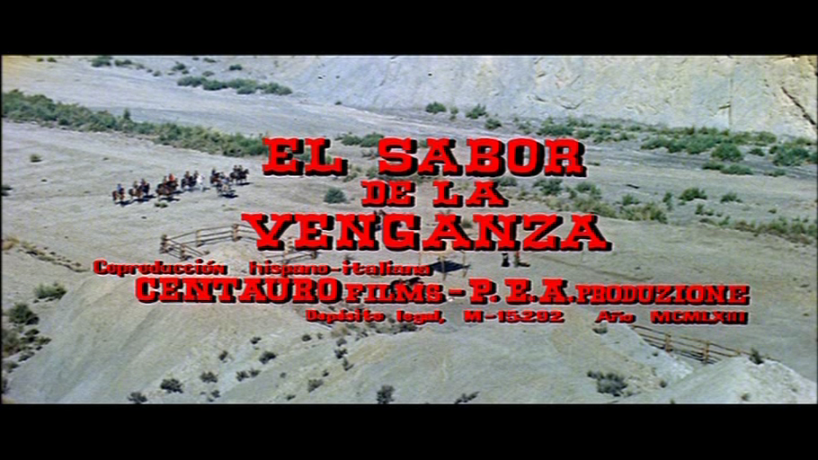 El sabor de la venganza title screen