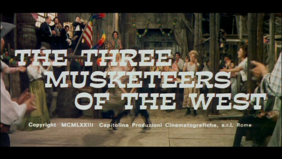 The Three Musketeers of the West DVD
